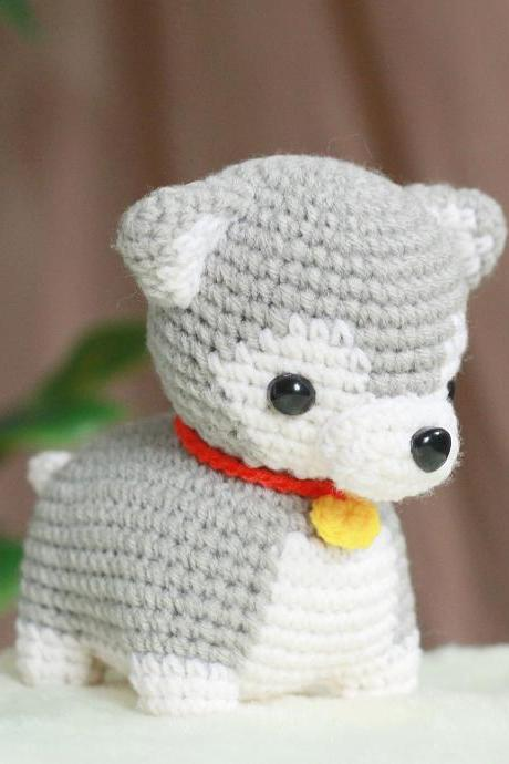 PATTERN: Siberian Husky Crochet Amigurumi Doll PDF Crochet Pattern - Instant Download